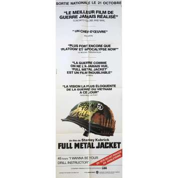 FULL METAL JACKET Affiche de film Reviews - 60x160 cm. - 1989 - Matthew Modine, Stanley Kubrick