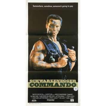 COMMANDO Affiche de film - 33x78 cm. - 1985 - Arnold Schwarzenegger, Mark Lester