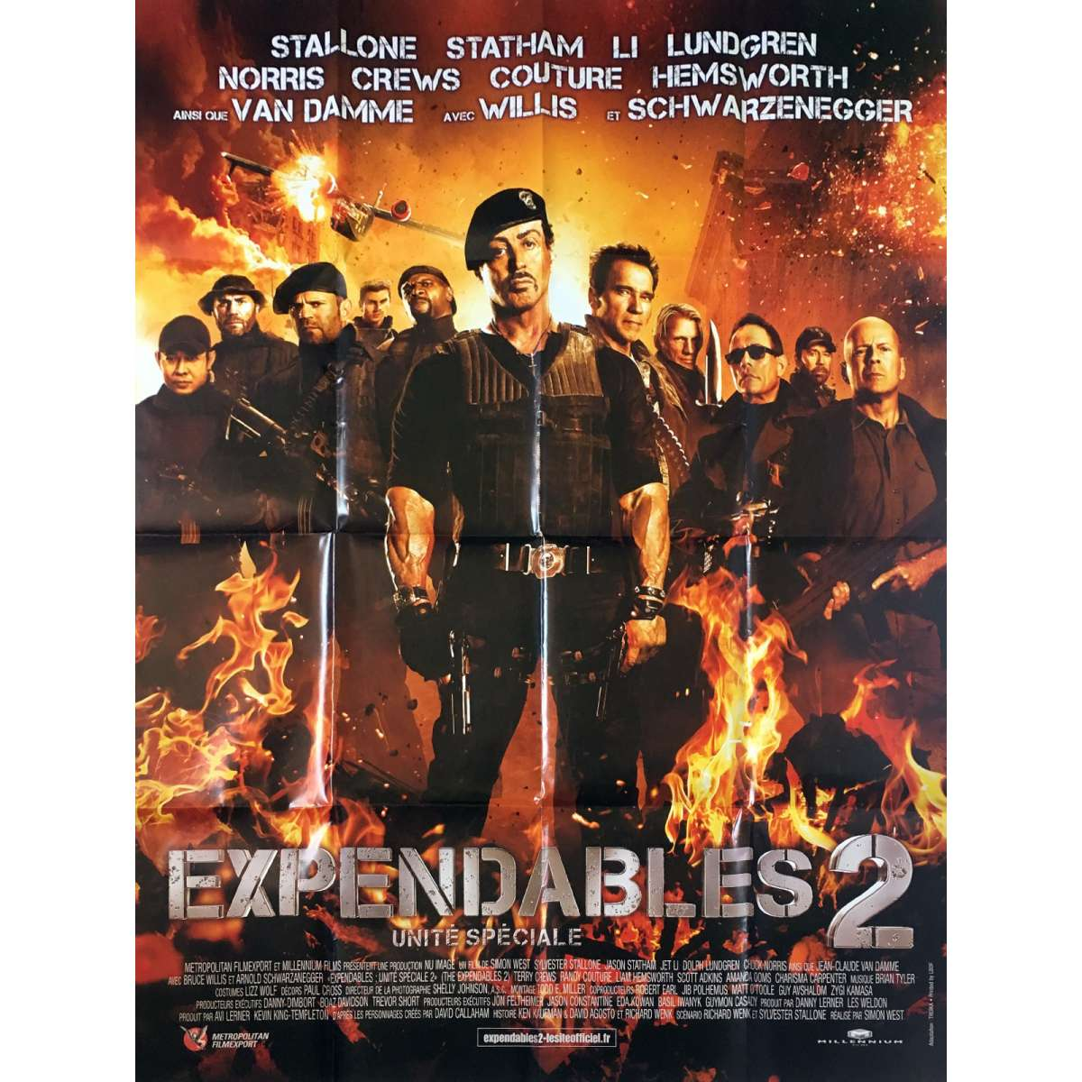 The Expendables 2 Movie Poster 47x63 In