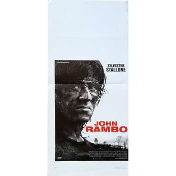 JOHN RAMBO Affiche de film - 33x78 cm. - 2008 - Julie Benz, Sylvester Stallone