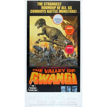 THE VALLEY OF GWANGI Original Movie Poster - 41x81 in. - 1969 - Ray Harryhausen, James Franciscus