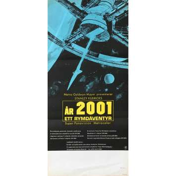 2001 A SPACE ODYSSEY Original Movie Poster - 12x26 in. - 1968 - Stanley Kubrick, Keir Dullea