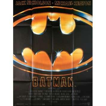 BATMAN Affiche de film - 120x160 cm. - 1989 - Jack Nicholson, Tim Burton