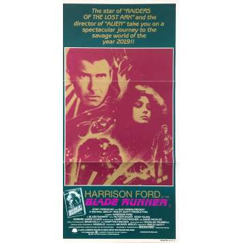 BLADE RUNNER Affiche de film - 33x78 cm. - 1982 - Harrison Ford, Ridley Scott