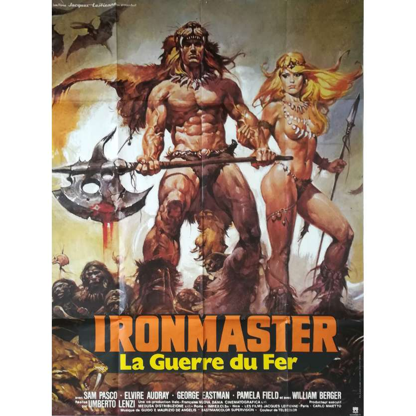 IRONMASTER Original Movie Poster - 47x63 in. - 1983 - Umberto Lenzi, Sam Pasco