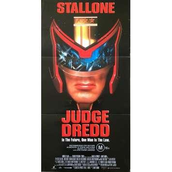 JUDGE DREDD Affiche de film - 33x78 cm. - 1995 - Sylvester Stallone, Danny Cannon