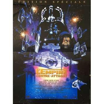 STAR WARS - L'EMPIRE CONTRE ATTAQUE Affiche de film - 40x60 cm. - 1980 - Harrison Ford, George Lucas