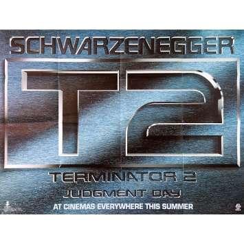 TERMINATOR 2 Affiche de film - 76x102 cm. - 1992 - Arnold Schwarzenegger, James Cameron