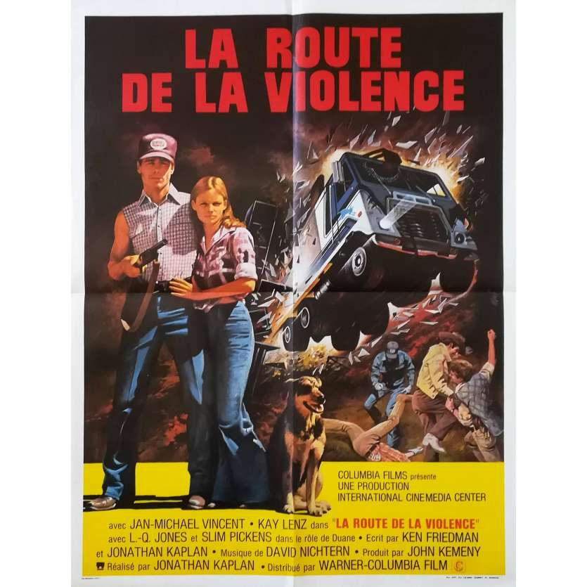 ROUTE DE LA VIOLENCE Affiche 60x80 FR '75 Jan Michael Vincent Movie Poster