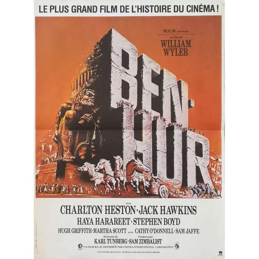 BEN-HUR French Movie Poster 15x21 - R1980 - William Wyler, Charlton Heston
