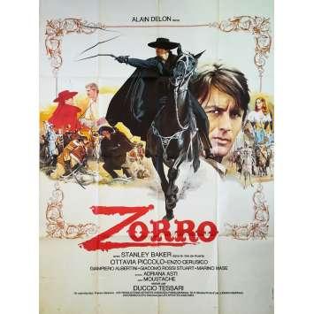 ZORRO Affiche de film - 120x160 cm. - 1975 - Alain Delon, Duccio Tessari