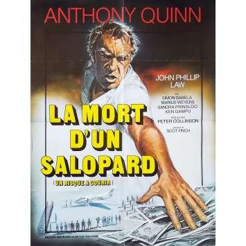 UN RISQUE A COURIR Affiche de film - 60x80 cm. - 1977 - Anthony Quinn, Peter Collinson