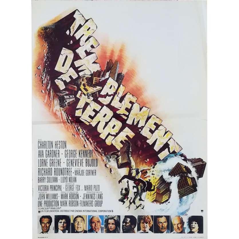 TREMBLEMENT DE TERRE Affiche de film - 40x60 cm. - 1974 - Charlton Heston, Mark Robson