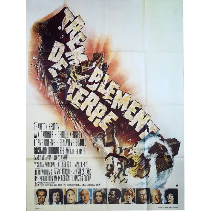 EARTHQUAKE Original Movie Poster - 47x63 in. - 1974 - Mark Robson, Charlton Heston