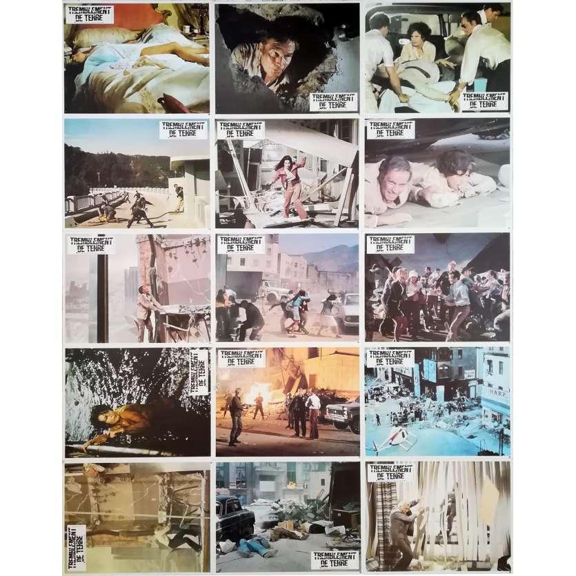 EARTHQUAKE Original Lobby Cards x16 - 9x12 in. - R1970 - Mark Robson, Charlton Heston