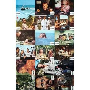 PAPILLON Original Lobby Cards x18 - 9x12 in. - 1973 - Franklin J. Schaffner, Steve McQueen