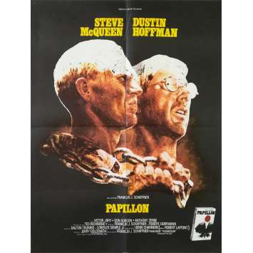 PAPILLON Affiche de film - 60x80 cm. - 1973 - Steve McQueen, Franklin J. Schaffner