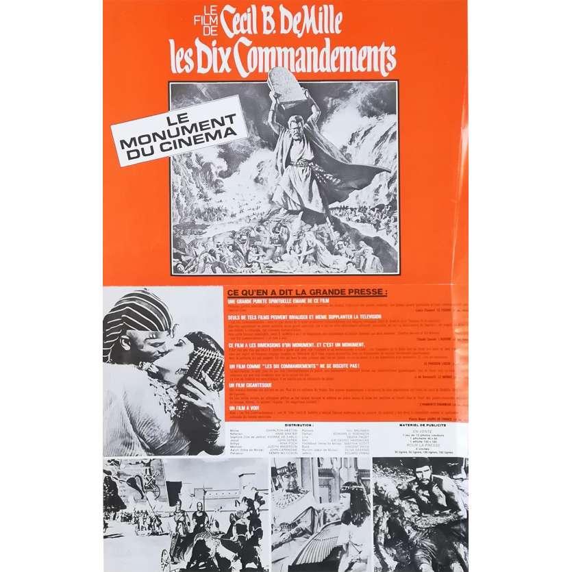 LES DIX COMMANDEMENTS Synopsis - 21x30 cm. - R1970 - Charlton Heston, Cecil B. DeMille