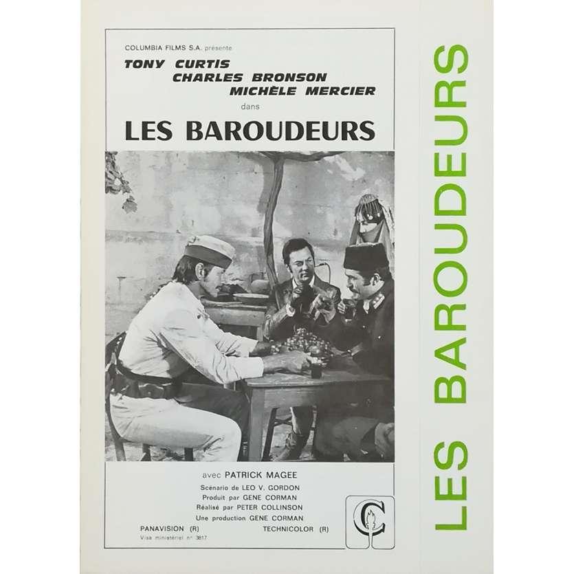 LES BAROUDEURS Synopsis - 18x24 cm. - 1970 - Tony Curtis, Charles Bronson, Peter Collinson