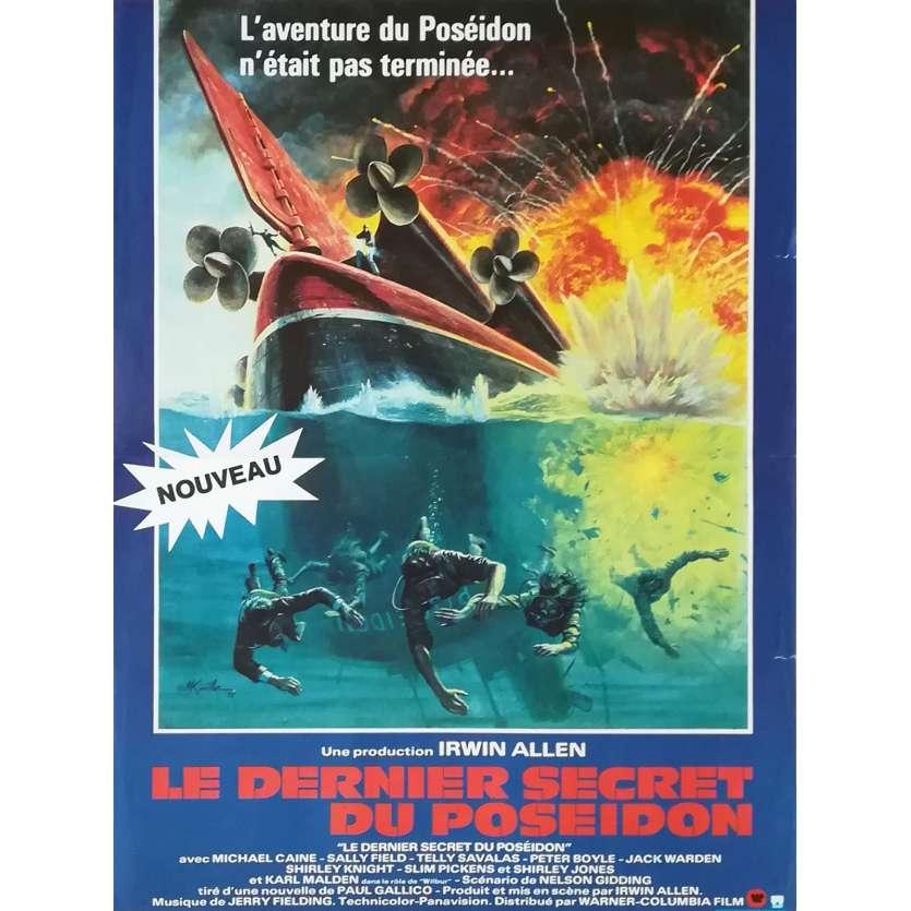 LE DERNIER SECRET DU POSEIDON Affiche de film - 40x60 cm. - 1979 - Michael Caine, Irwin Allen