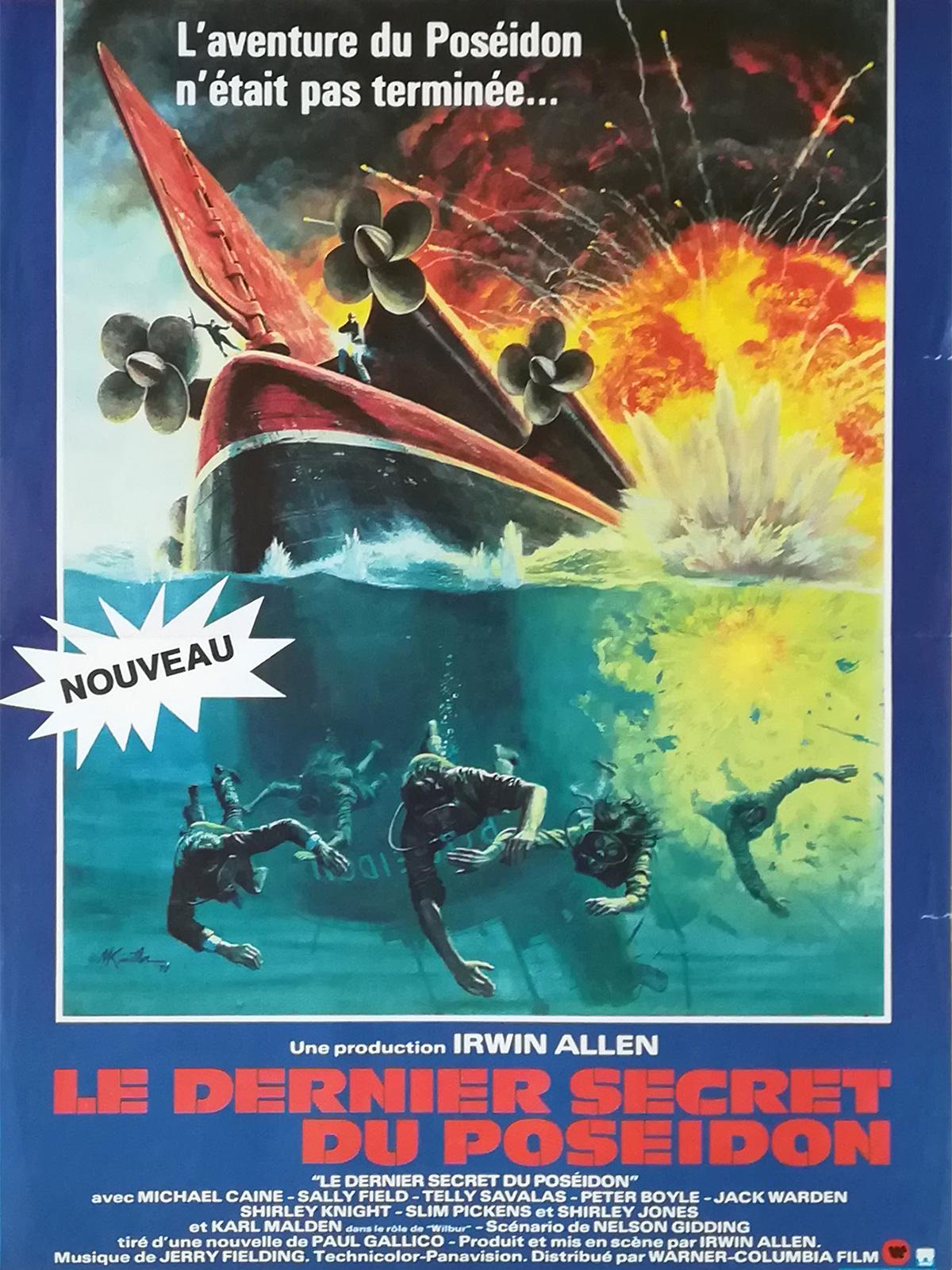 Beyond The Poseidon Adventure Original Movie Poster 15x21 In 1979 Irwin Allen Michael Caine