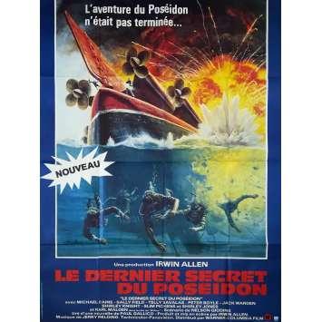 LE DERNIER SECRET DU POSEIDON Affiche de film - 120x160 cm. - 1979 - Michael Caine, Irwin Allen