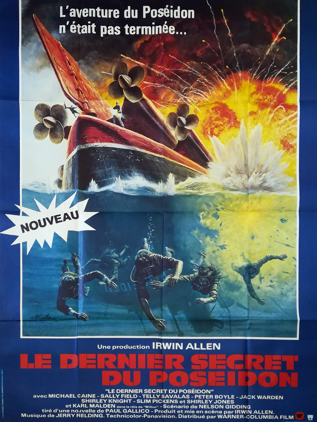Beyond The Poseidon Adventure Original Movie Poster 47x63 In 1979 Irwin Allen Michael Caine