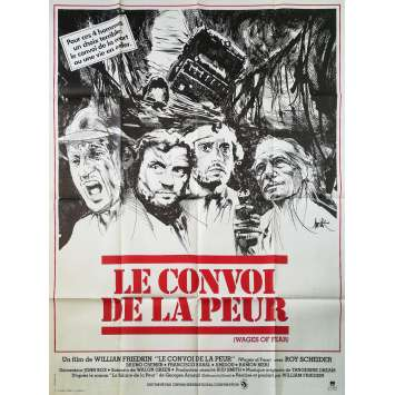 LE CONVOI DE LA PEUR Affiche de film - 120x160 cm. - 1977 - Roy Sheider, William Friedkin