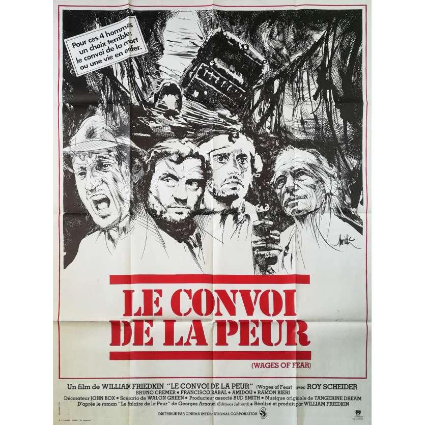 LE CONVOI DE LA PEUR Affiche de film - 120x160 cm. - 1977 - Roy Sheider, William Friedkin