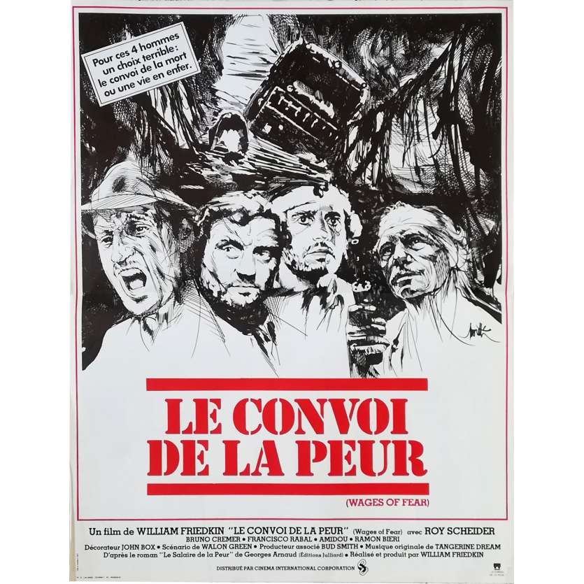 LE CONVOI DE LA PEUR Affiche de film - 40x60 cm. - 1977 - Roy Sheider, William Friedkin