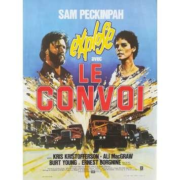 LE CONVOI Affiche de film - 40x60 cm. - 1978 - Kris Kristofferson, Sam Peckinpah