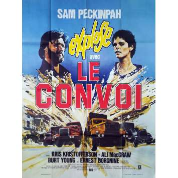 LE CONVOI Affiche de film - 120x160 cm. - 1978 - Kris Kristofferson, Sam Peckinpah