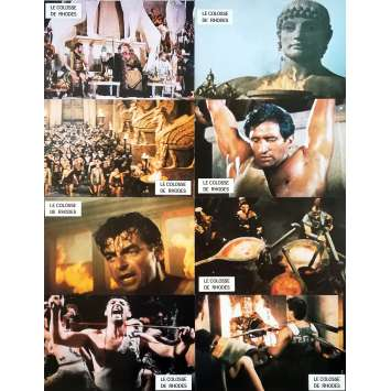 THE COLOSSUS OF RHODES Original Lobby Cards x8 - 9x12 in. - 1961 - Sergio Leone, Lea Massari