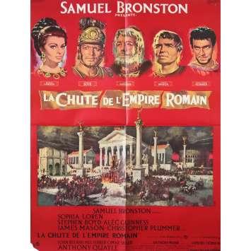 LA CHUTE DE L'EMPIRE ROMAIN Affiche de film - 60x80 cm. - 1964 - Sophia Loren, Anthony Mann