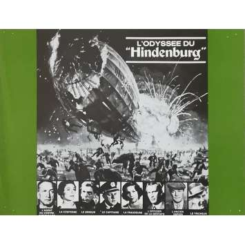 THE HINDENBURG Original Herald - 9x12 in. - 1975 - Robert Wise, George C. Scott