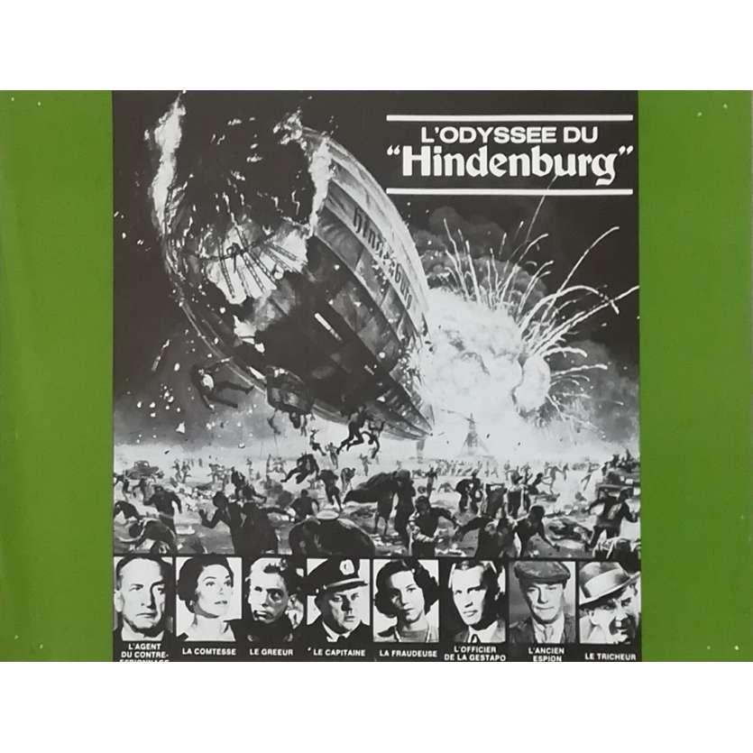 THE HINDENBURG Original Herald - 9x12 in. - 1975 - Robert Wise, George C. Scott