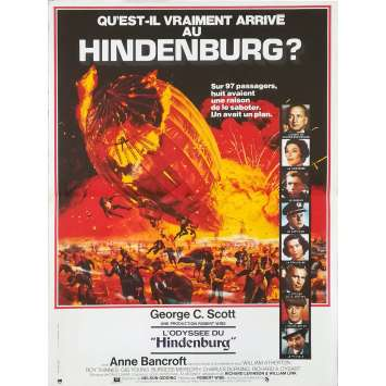THE HINDENBURG Original Movie Poster - 15x21 in. - 1975 - Robert Wise, George C. Scott