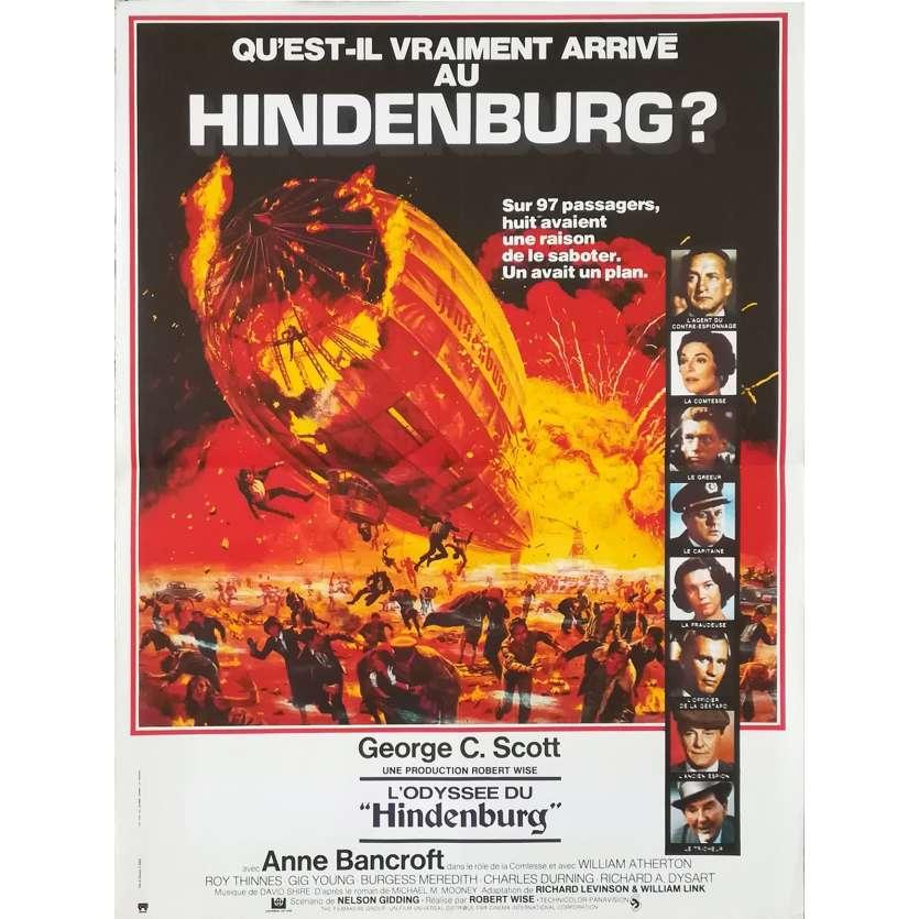 L'ODYSSEE DU HINDENBURG Affiche de film - 40x60 cm. - 1975 - George C. Scott, Robert Wise