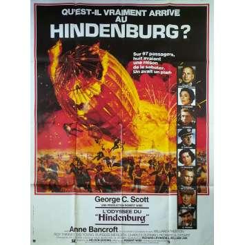L'ODYSSEE DU HINDENBURG Affiche de film - 120x160 cm. - 1975 - George C. Scott, Robert Wise