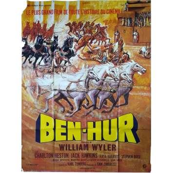 BEN-HUR Affiche de film - 120x160 cm. - R1970 - Charlton Heston, William Wyler