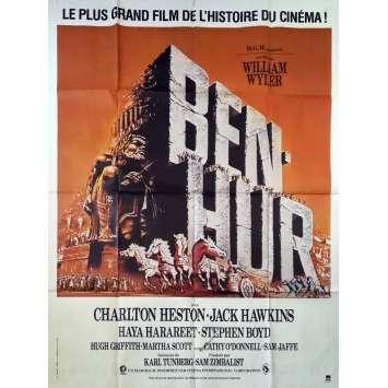 BEN-HUR Affiche de film - 120x160 cm. - R1980 - Charlton Heston, William Wyler