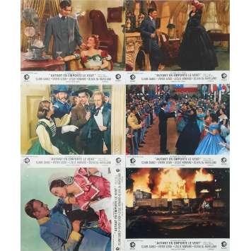 AUTANT EN EMPORTE LE VENT Photos de film x6 - 21x30 cm. - R1960 - Clark Gable, Victor Flemming