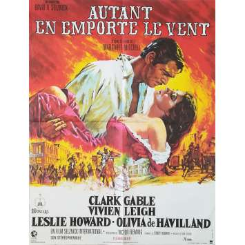 GONE WITH THE WIND Original Movie Poster - 23x32 in. - R1970 - Victor Flemming, Clark Gable