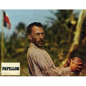 PAPILLON Original Lobby Card N02 - 10x12 in. - R1970 - Franklin J. Schaffner, Steve McQueen