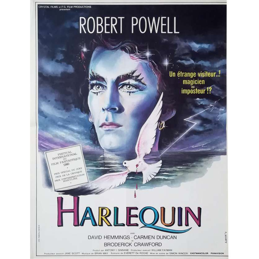 HARLEQUIN Movie Poster 15x21 '80 Robert Powell