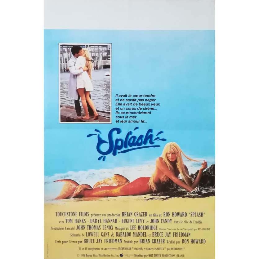 SPLASH Affiche de film 40x60 - 1984 - Daryl Hannah, Tom Hanks