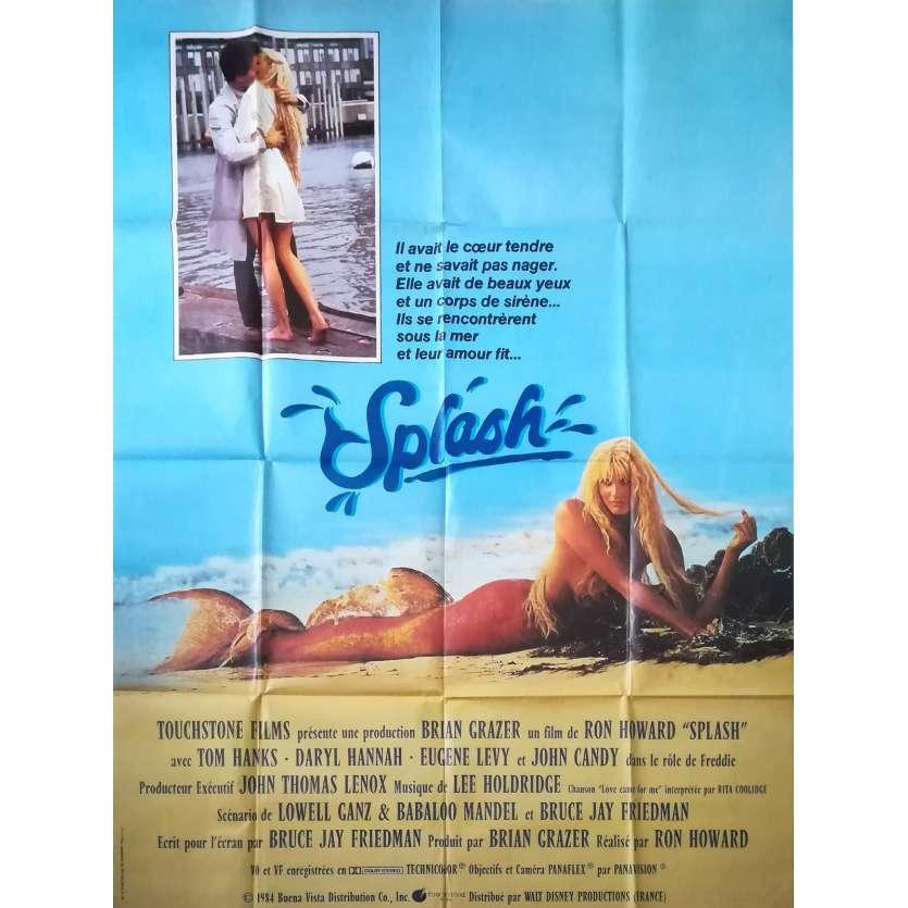 SPLASH Movie Poster 47x63 in. - 1984 - Ron Howard, Daryl Hannah