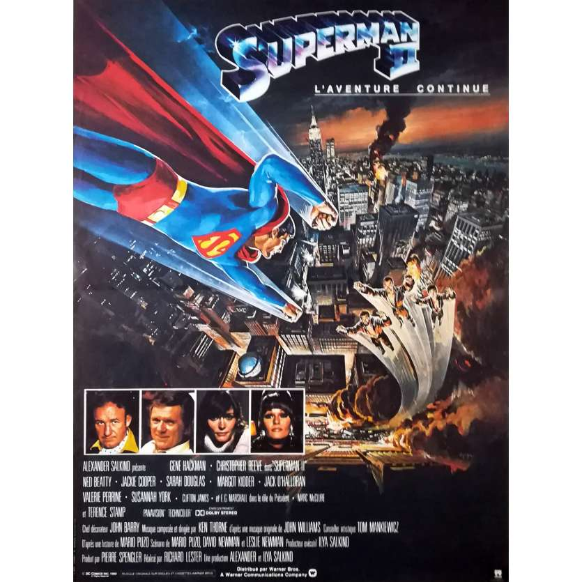 SUPERMAN 2 Affiche de film 40x60 - 1980 - Christopher Reeves, Richard Lester