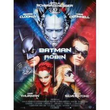 BATMAN ET ROBIN Affiche de film - 120x160 cm. - 1997 - Arnold Schwarzenegger, Joel Schumacher