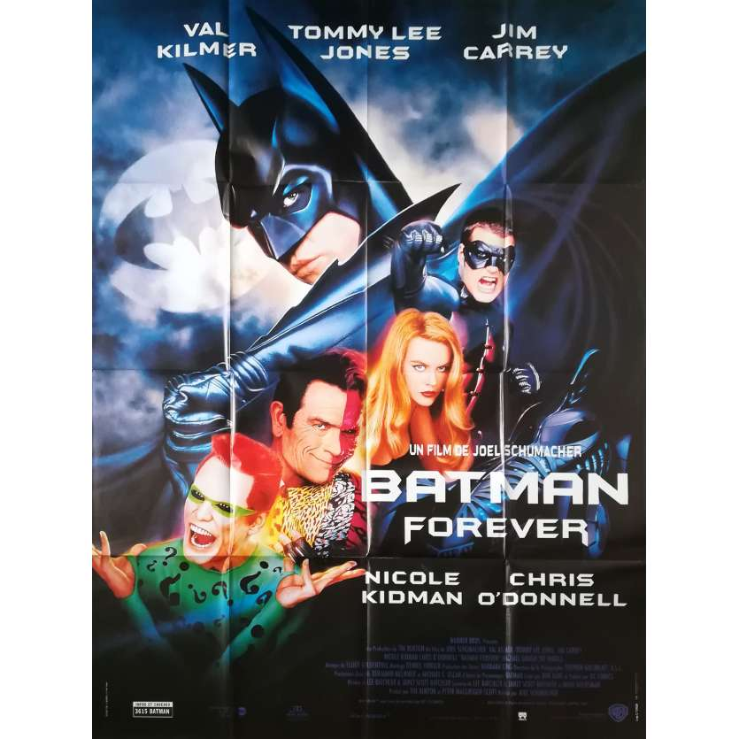 BATMAN FOREVER Original Movie Poster - 47x63 in. - 1995 - Joel Schumacher, Val Kilmer